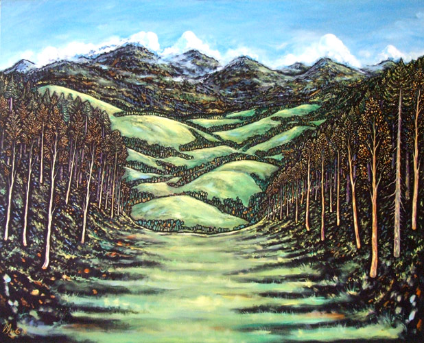 Alpine Dream (oil on canvas)