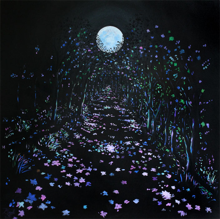 Enchanted Lunar Woods (oil on canvas)