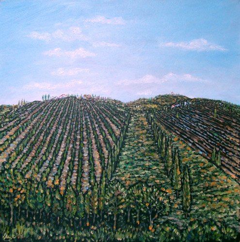 Tuscan Landscape (oil on canvas)
