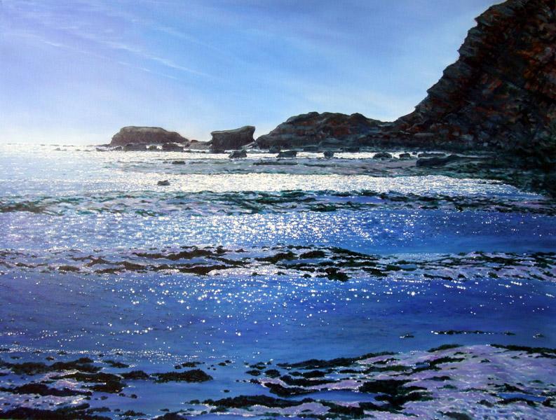 Sun Kissed Sea - Whitby (Saltwick Nab)