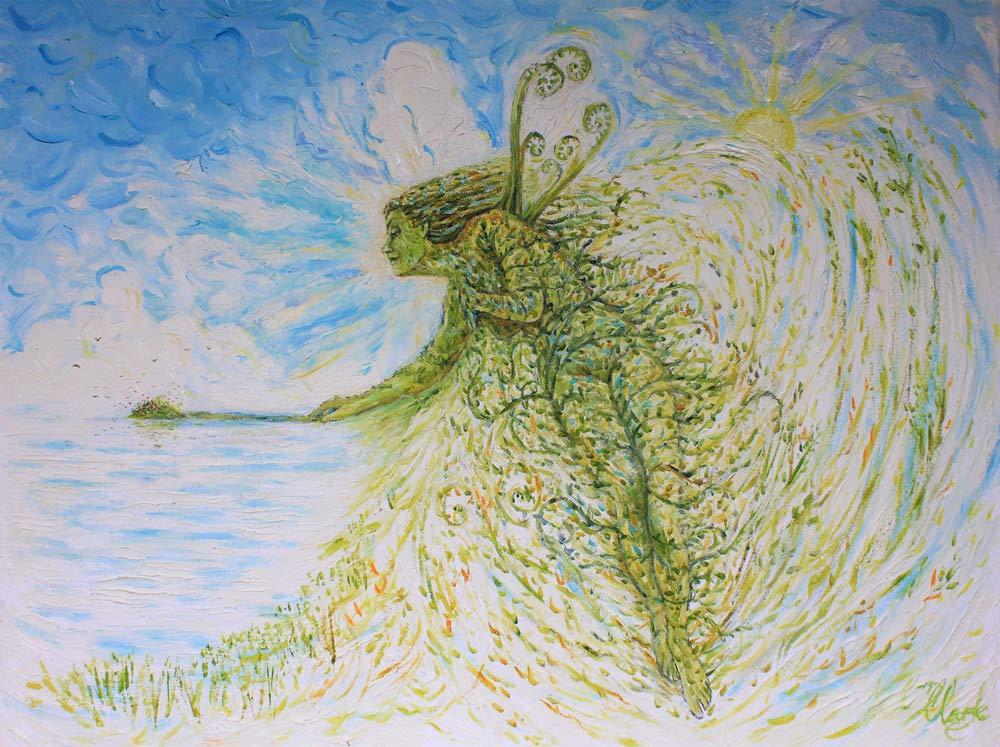 Primavera (Spring Fairy - Homage to J. A. Grimshaw)